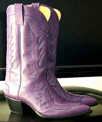 Purple Cowboy Boots