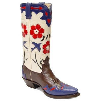 Bluebird Classic Retro Vintage Boots Chocolate & Bone