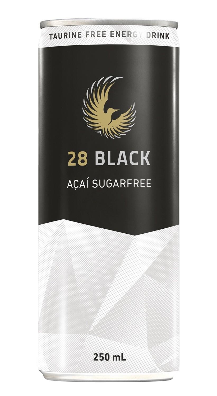 28 BLACK Açai Sugarfree – Tray of 24 cans