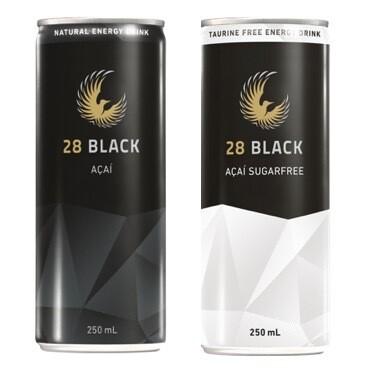 28 Mixed - Tray of 12x 28 BLACK Açai and 12x 28 BLACK Açai Sugarfree
