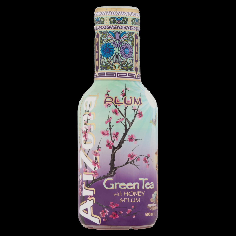 Arizona Iced Tea Green Tea with Honey and Plum – Tray of 12 Bottles