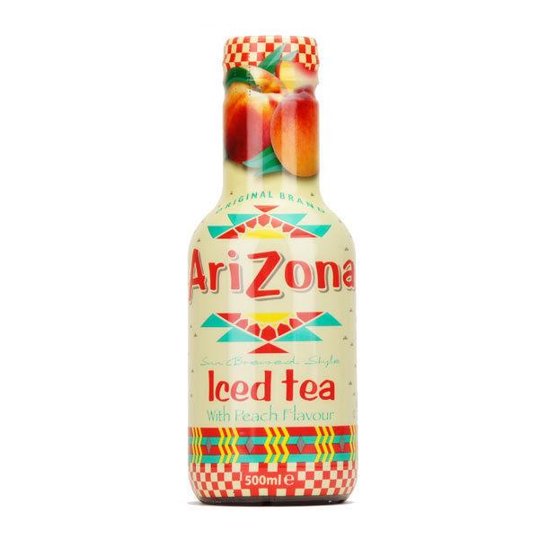 Arizona Iced Tea Peach – Tray of 12 Bottles