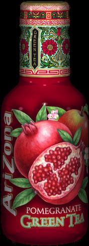 Arizona Iced Tea Green Tea and Pomegranate – Tray of 12 Bottles
