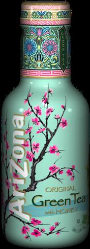 Arizona Iced Tea Green Tea with Honey – Tray of 12 Bottles