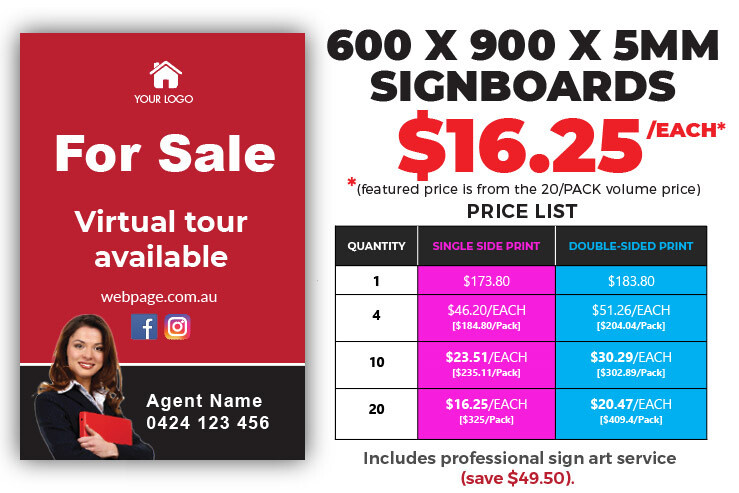 Printed Signboards - 600x900x5mm