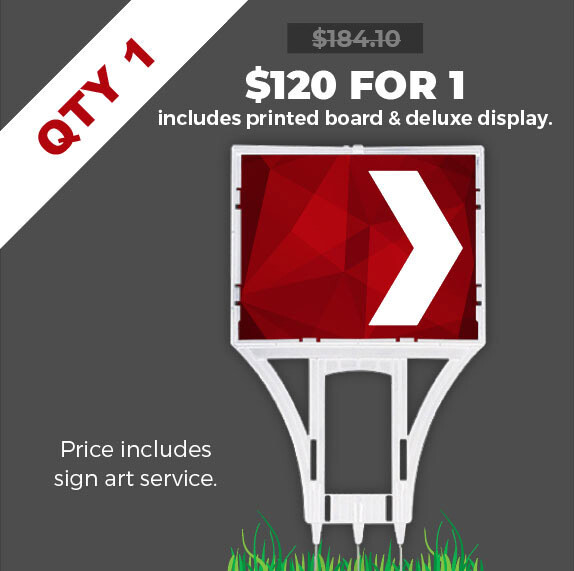 Deluxe Point Sign - Promo prices end FEB 28.
