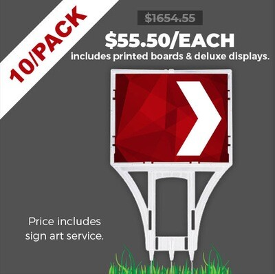 Deluxe Point Signs 10/PACK - Promo prices end NOV 30.