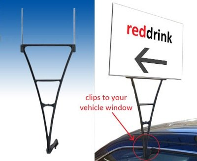 Point Ad-Sign Vehicle Display Stake