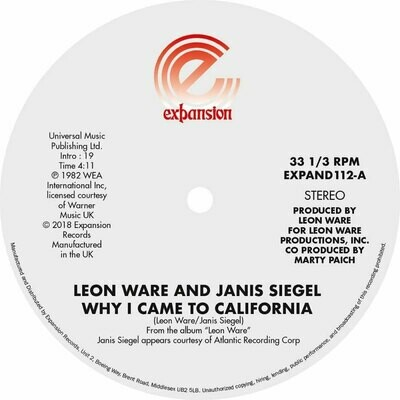Leon Ware and Janis Siegel (12-inch)