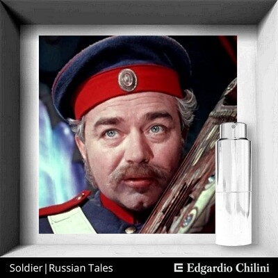 Edgardio Chilini, Soldier. Russian tales, resinous fruity fragrance