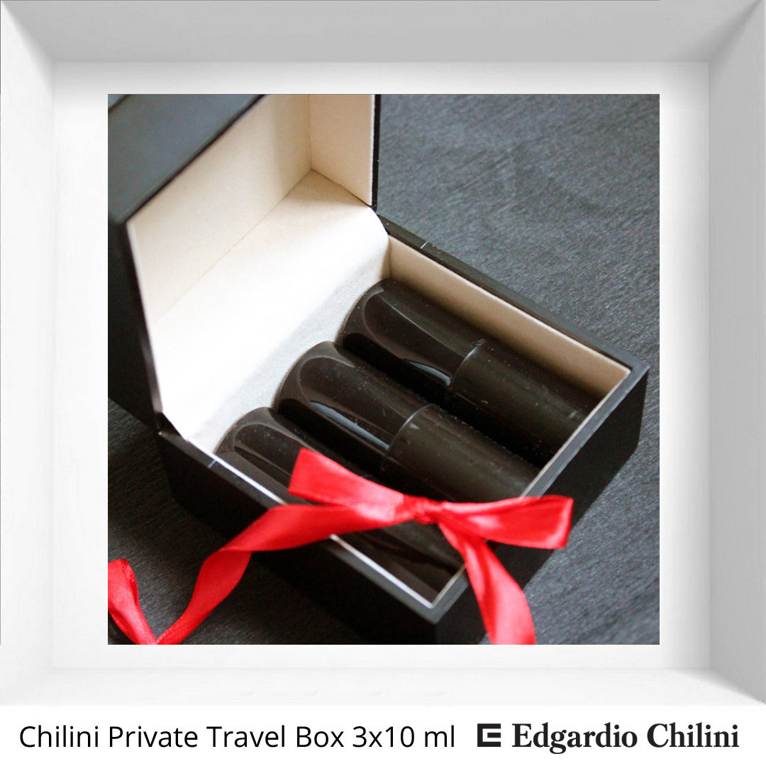 Chilini Private Travel Box 3 x 10 ml fragrance travel bottle set
