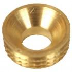 No.6 Solid Brass Recessed Screw Cups Pack of 25