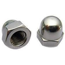 M4  Dome Nuts Din 1587 Zinc Plated