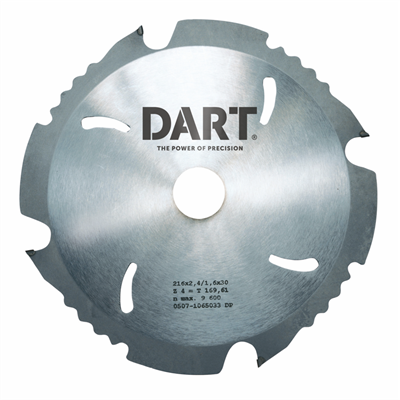 Dart PCD Fibre Cement Board Saw Blades 160mm