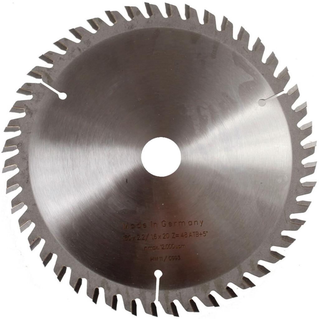 165mm x 20mm Bore x 48 Teeth Platinum +8 Saw Blade ATB