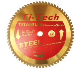180mm x 20mm Bore x 36 Teeth Steel Cutting TCT Blades