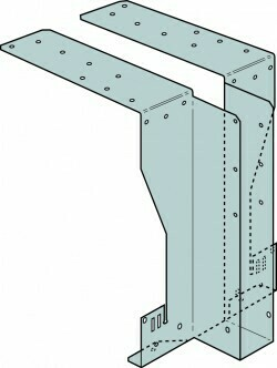 72mm x 195mm x 75mm HITB Heavy Backer Free I-Joist Hanger
