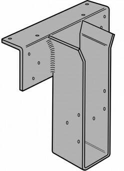 2ply 45 or 90mm x 200mm GLTV Top Flange I-Joist Hanger