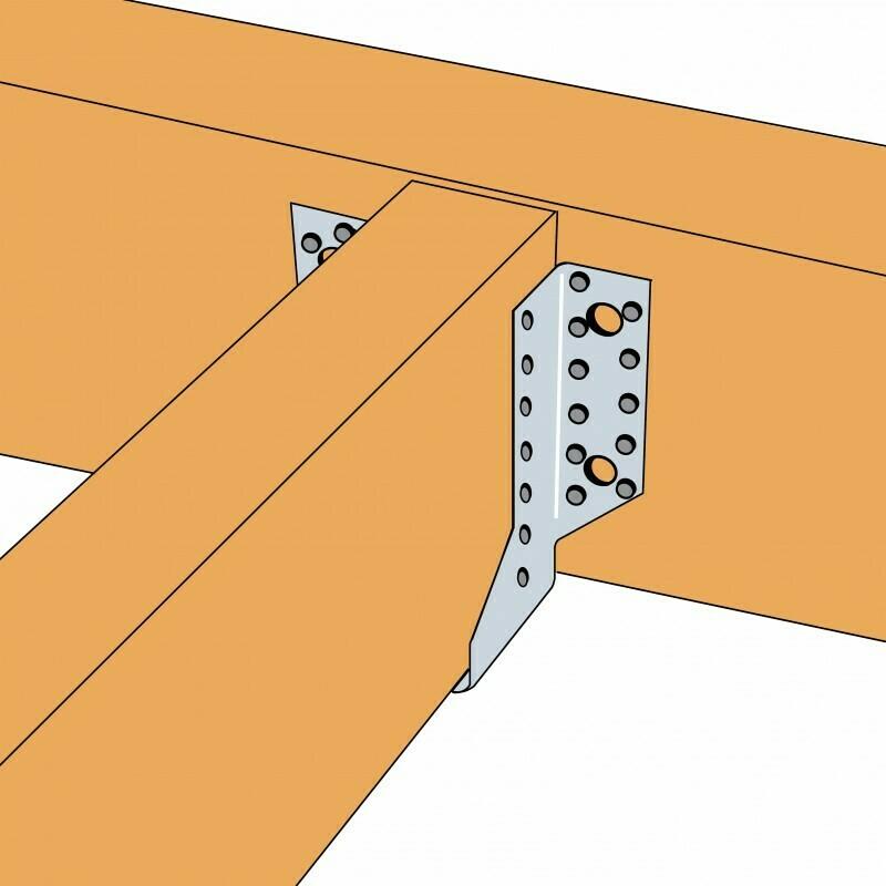 Simpson Timber to Timber Joist hanger 75-76mm Joist SAE620/76/2