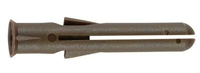 Premium Long 42mm Brown Plastic Plugs Plugs (Pack of 1000)