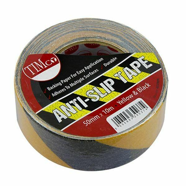 50mm x 10 Metres Anti Slip Tape Yellow & Black