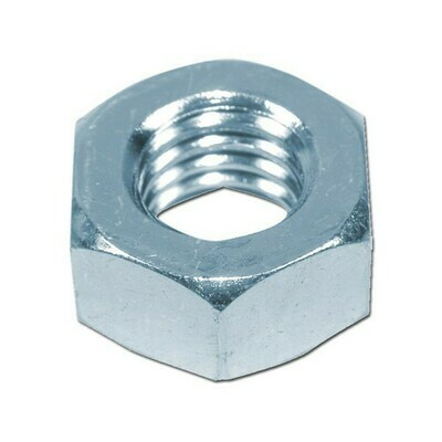 M8 Hexagon Full Nuts Din 934  Zinc Plated Box of 100
