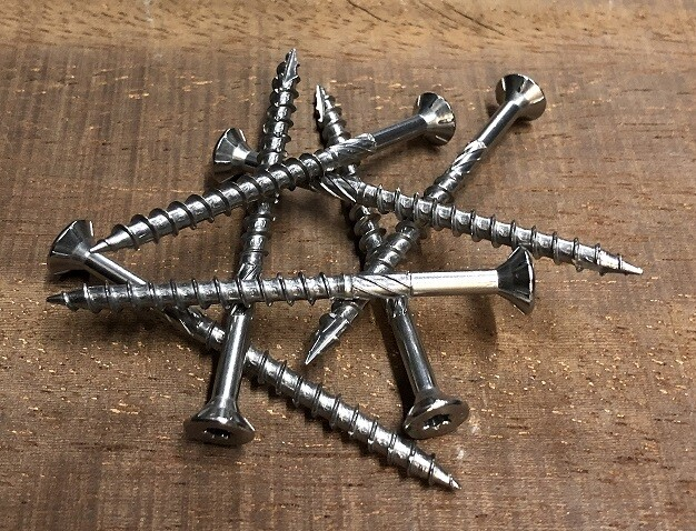 4.0mm x 50mm Countersunk Torx TX20 Hardened Stainless Steel Screws Box of 500