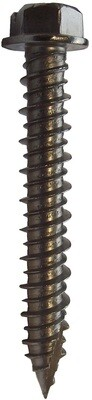 6.3 x 57mm A4 316 Hex Head Masonry Screws  Box of 100