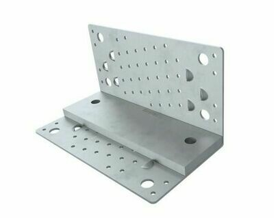 Steel Shearing Angle Attachment Plate 230mm x 68mm x 12mm