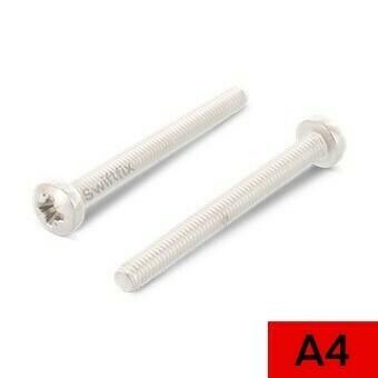 M4 x 40 Pan Head Pozi Machine Screws Din 7985  A4 316 st/st