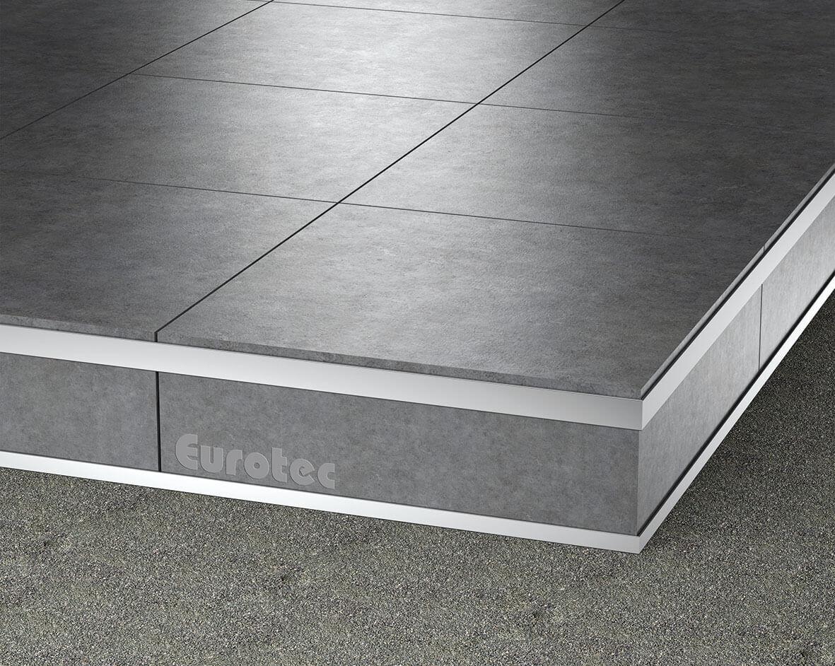 Aluminium Patio end support for Porcelain Tiles (Top) 2000 x 215,5 x 37,5 mm