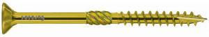 12.0mm x 120mm Paneltwistec Screws Countersunk TX50 Torx Drive Zinc & Yellow Coated Box of 25