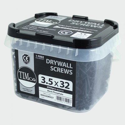 3.5mm x 38mm   Timco Drywall Screws in Buckets (Tubs) 1500