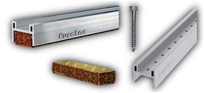 Low profile aluminium decking cork inserts 90 x 28 x 17mm frames Pack of 100