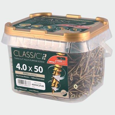 5.0mm x 40mm (Tub of 800 screws) Classic C2 Premium Pozi Countersunk Wood Screws.