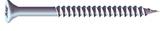 No.8 x 1 inch  Pozi Countersunk Wood Screws Twin Thread Zinc Plated Box of 200