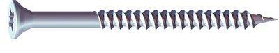 N0.10 x 2 1/2 inch  Pozi Countersunk Wood Screws Twin Thread Zinc Plated Box of 200
