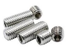 M4 x 5mm Diameter Socket Sets (Grub Screws) A4 316 Plain Cup Point Din 916