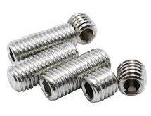 M4 x 25mm Diameter Socket Sets (Grub Screws) A4 316 Plain Cup Point Din 916