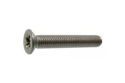 M8 x 25 Csk Pozi Din 965 A4 316 Marine Grade Stainless Steel