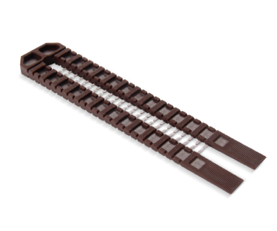 Double Snap Wedge Shim Brown 195mm x 41mm 1-8mm Thicknesses  Pack of 50