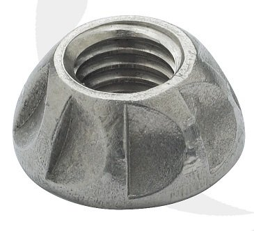 M5 Kinmar One Way Nuts A2 stainless Steel Box of 100