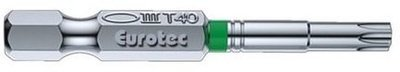 Eurotec Green TX40 Torx Bits 50mm long Packed in 1s