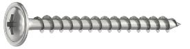 4.0 x 25mm  Pozi Wafer/Flange Head Screws Zinc Plated  Box of 500