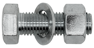 M12 x 30 CE Assembled Hex Set / Nut /Washer Zinc Plated