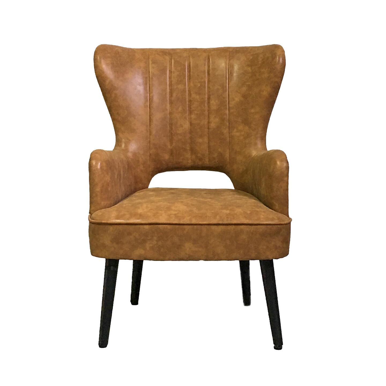 Tan PU Leather Chair