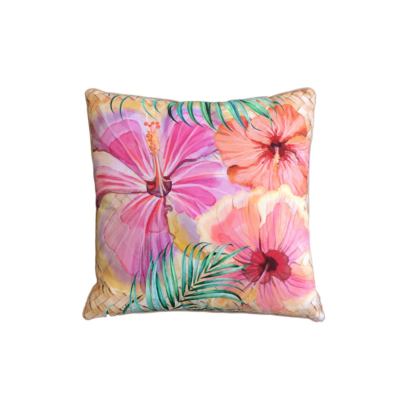 Hibiscus Rattan Cushion 60cm x 60cm