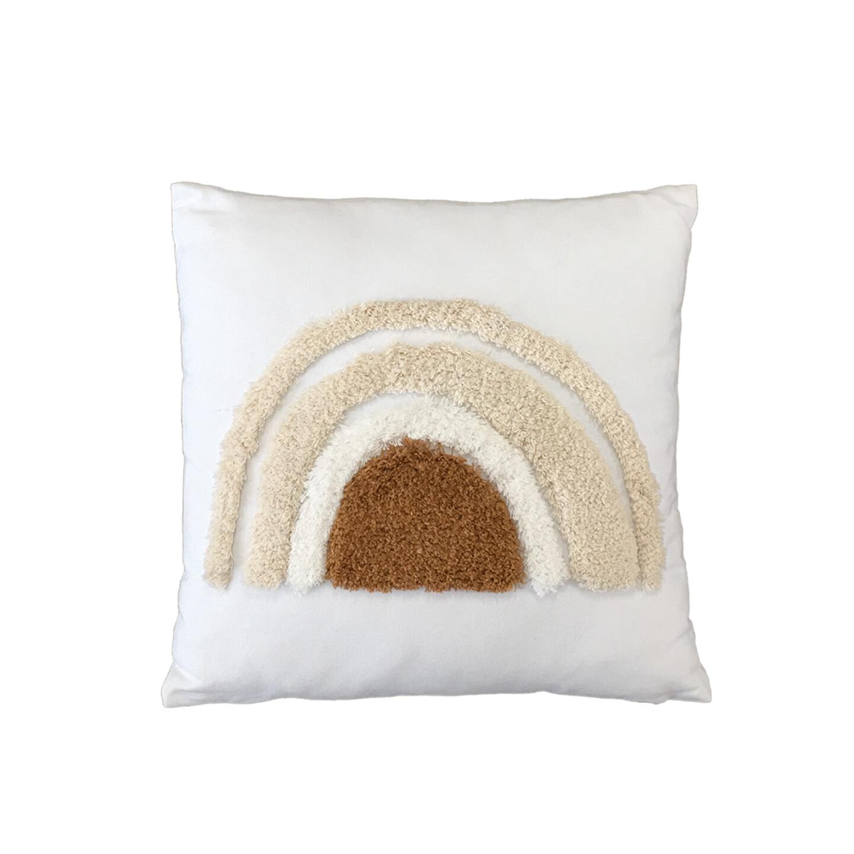 Earthy Sunrise Rainbow Cushion 45cm x 45cm