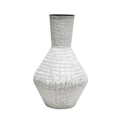 84cm White Scratch Vase