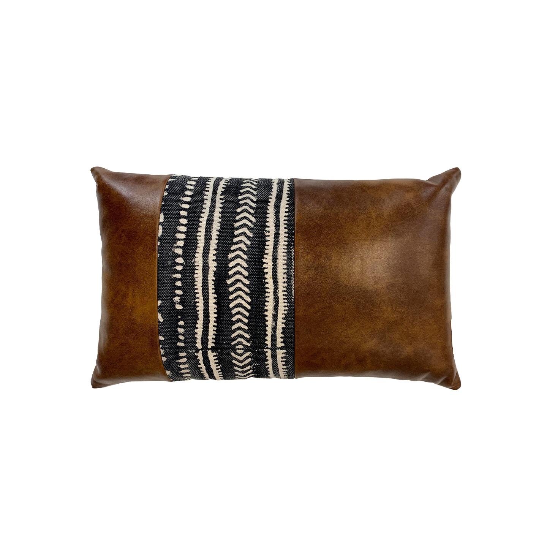 Cena PU Leather & Cotton Cushion 30cm x 45cm